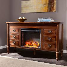 upton home lismore 60 inch whiskey maple electric fireplace console