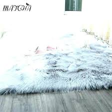 small white faux fur rug rugs caramel brown interesting f pink m furry gray