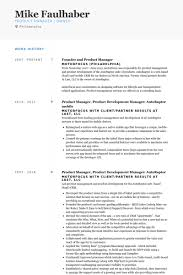 Resume Examples Product Manager Best Of Product Manager Resume Samples VisualCV Resume Samples Database