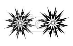Fototapeta Vektorové Tetování Ornamenty Abstraktní Sun Flower