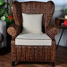 wingback wicker chair