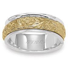 artcarved wedding bands. 11-wv4309 lyric two tone 14kt gold mens wedding band from artcarved artcarved bands 1