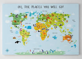 canvas world map encourage for kids nursery wall art animal pertaining to 17  on cheap wall art canvas australia with canvas world map encourage for kids nursery wall art animal