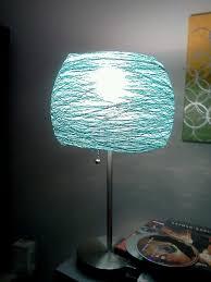 diy lamp shades | DIY lamp shade - crochet string and glue/ starch , mold