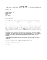 Technology Sales Resume Resume Appealing Cover Letters For Sample Letter Sales And Sales