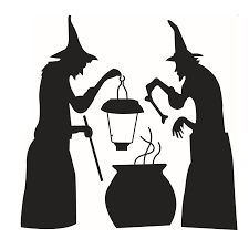 wizard cooking pot removable wall sticker for decor black