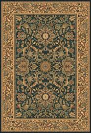 this area rug is textured in a persian carpet style