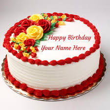 The Write Name On Happy Birthday Cake With Photo