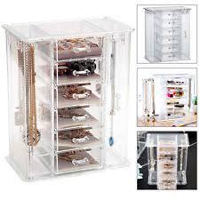 6 drawers organiser acrylic makeup drawer holder jewellery case box storage ne