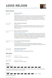 Artistic Director Resume samples