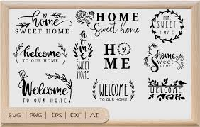 We provide free svg files. Home Sweet Home With Border Svg Graphic By Artdee2554 Creative Fabrica