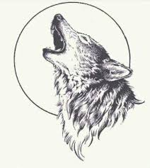 howling wolf moon drawing. Delighful Wolf Lone Wolf U2026 Intended Howling Wolf Moon Drawing T
