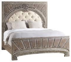 Hooker Furniture True Vintage Upholstered Panel Bed Light Wood