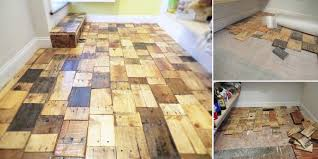 a pantry floor made out of pieces of various types of pre cut 1x wood