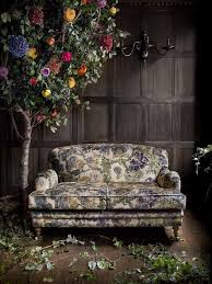 Interior Inspiration Floral Print Fabrics Sofa  Flower Tree This Vintage  Look Is Awesome Printed Fabric Sofas27