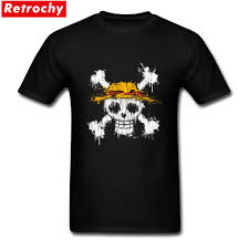 Trendy T Shirt Designs Us 12 54 43 Off Trendy Adults One Piece Skull Short Sleeve Eco Cotton T Shirt Design Anime Graphic Tees For Men Tshirts In T Shirts From Mens