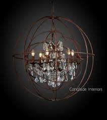 graceful sphere chandelier with crystals 31 wood and crystal mid century silver orb 1092x1220