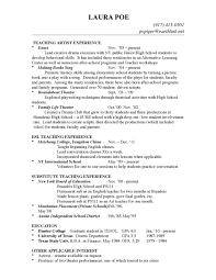 100 Best Teacher Resume Write Resume 22 45 Best Teacher