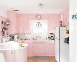Light Pink Kitchen Pastel Pink Kitchen Ideas Cabinets And Island White Top Freezer
