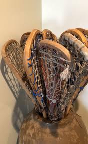 15 vintage wooden lacrosse sticks