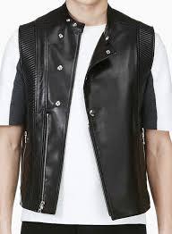 leather vest 354