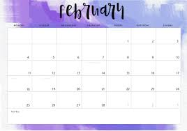 Online February 2019 Calendar Pdf Word Excel Free Online
