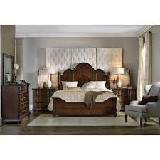 Hooker Furniture Leesburg King Poster Bed in Dark Wood