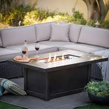 marvelous propane fire pit for your outdoor design napoleon rectangle propane fire pit table