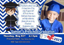 Preschool Graduation Announcements 42 Printable Graduation Invitations Psd Ai Word Free