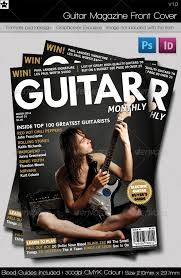 photoshop magazine cover template. Guitar Magazine front cover by DarkstarDesigns GraphicRiver