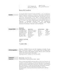 Examples Of A Professional Resume Proyectoportal Com
