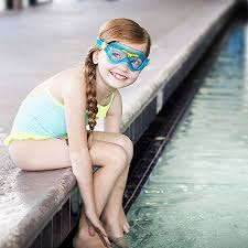 aqua sphere vista junior swim mask with clear lens bluewater yellow uv