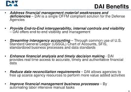 Ussgl Chart Of Accounts Defense Agencies Initiative Dai Advanced Procurement