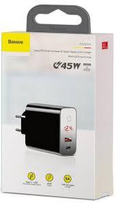 Купить сетевое <b>зарядное устройство Baseus Speed</b> PPS 45W в ...