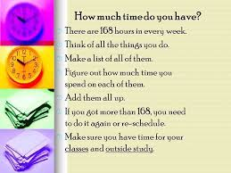 Make A Time Schedule Managing Time How Much Time Do You Have How Are You Going To