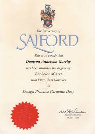 First Class Honours Salford University On Behance