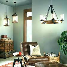 vineyard metal and wood chandelier square 6 light by rustic