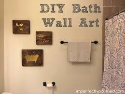 bathroom wall decor pictures. Modren Wall Elegant Diy Bathroom Wall Decor Ideas Katecaudillo Art Intended For Bath 9 In Pictures