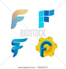 Letter F Templates Letter F Logo Set Vector Photo Free Trial Bigstock