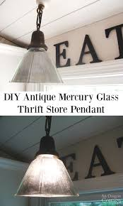 diy antique mercury glass pendant from a thrift shade