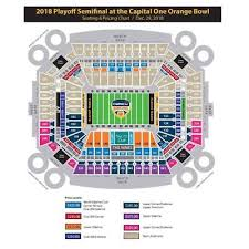 Capital One Orange Bowl Seating Chart Orange Bowl Black Card South Parking Pass 34 00 Picclick