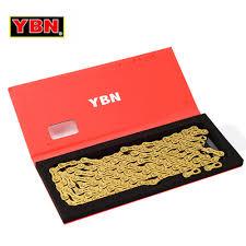 <b>YBN Ultralight 9</b> 10 11 Speeds Bicycle Chain SLR Gold Hollow MTB ...