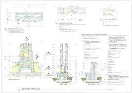 outdoor fireplace blueprints s outdoor stone fireplace blueprints