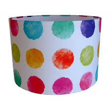 multi coloured lampshade popular pop art spot handmade fabric drum intended for 10