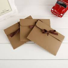 Details About 30pcs Diy Kraft Paper Retro Gift Card Envelope Romantic Letter With Ribbons Us