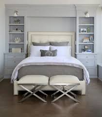 view in gallery built in shelves as headboard small master bedroom here s how to make the most of