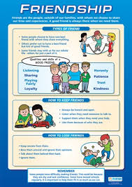 Friendship Chart For School Personal Social And Health School Chart Friendship