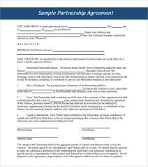Sample Business Partnership Agreement 9 Documents In Pdf Word