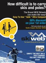 carrying skis how to carry skis the easy way ski gifts ski accessories
