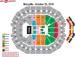 Yum Concert Seating Chart Mercyme Imagine Nation Tour Kfc Yum Center